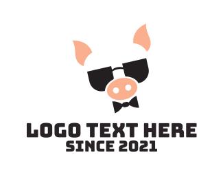 """""""Cool Pig Mascot """" by marcololstudio"""