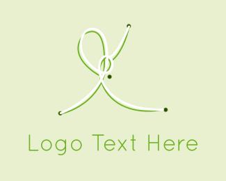 Cotton - Green Knots logo design