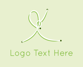 String - Green Knots logo design