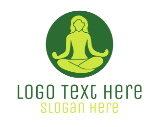 Ayurvedic - Meditating Person logo design