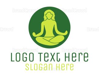 Incredible - Meditating Person logo design
