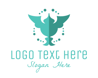 Aesthetic - Green Humming Bird logo design
