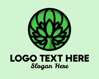 Bush - Nature Tree Emblem logo design