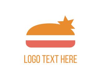 Cheeseburger - Star Burger logo design