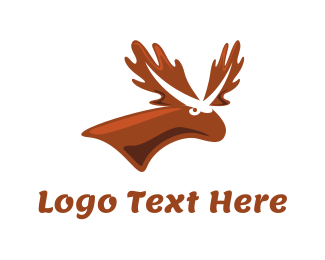 White And Brown - Brown Moose logo design