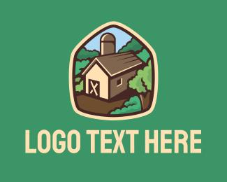 Farmhouse - Countryside Barn logo design