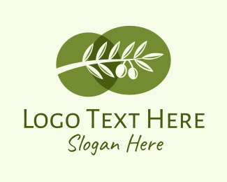 Olive - Natural Olive Branch  logo design