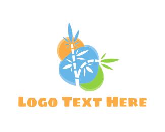 Bamboo - Colorful Bamboo logo design