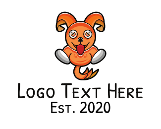 Cartoon - Orange Cartoon Bunny logo design