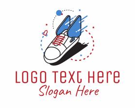 Fashion - Cool Sneaker Shoe Fashion logo design