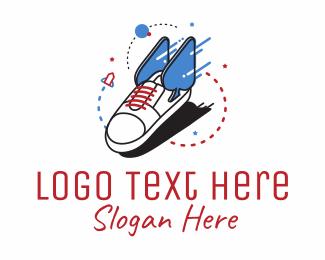 Shoe - Lucky Race logo design