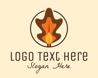 Autumn - Autumn Leaves Decor logo design