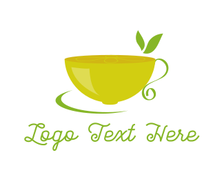 Teacup -  Lemon Tea logo design