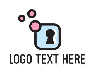 Motel - Keyhole Bubbles logo design