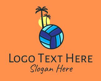 Volleyball Equipment - Summer Beach Volleyball logo design