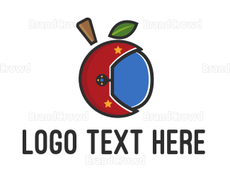 Helmet - Apple Helmet logo design