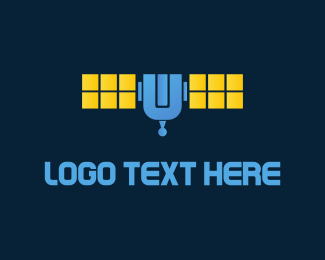 Blue And Yellow - Blue Satellite logo design