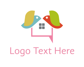 Text - Bird Text logo design