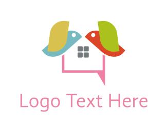 Mail - Bird Text logo design