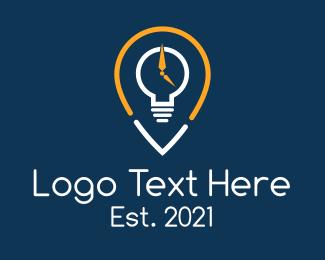 Navigation - Timer Lightbulb Navigator logo design
