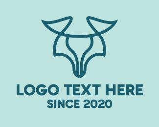 Wilderness - Minimalist Modern Cow logo design