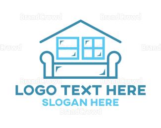 Window - Home Furniture logo design