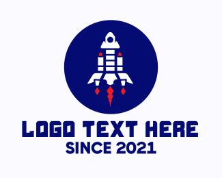 Space - Rocketship Space Launch logo design