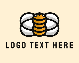 Yellow Insect - Yellow Bee  logo design