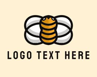 Honey - Yellow Bee  logo design