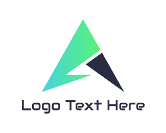 Web Development - Tech Green Arrow logo design