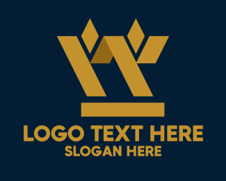 Gold And Purple - Golden Geometric Barley logo design