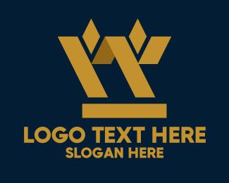 Capital - Golden Geometric Barley logo design