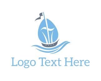 Ship - Blue Ship logo design