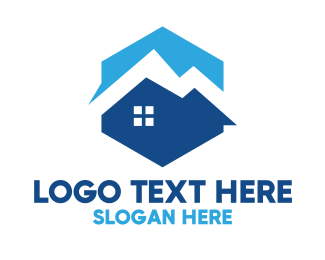 Residence - Blue Mountain House logo design