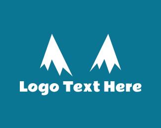 Glacier - Snow Peaks logo design