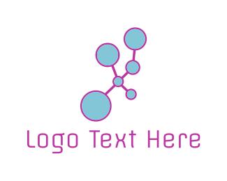 Consultant - Blue Molecule logo design
