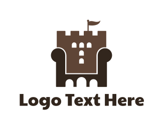 Throne - Castle Furniture logo design