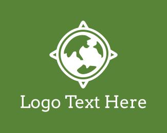 Navigate - World Compass logo design