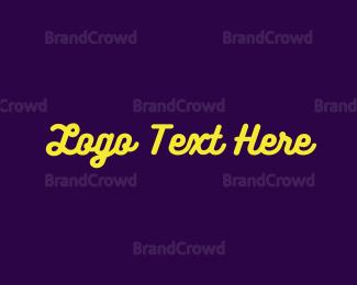 Led - Yellow Neon Sign logo design