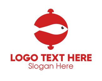 Salmon - Fish Food logo design