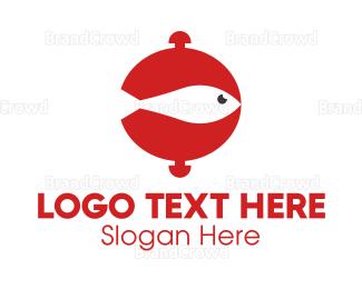 Tuna - Fish Food logo design