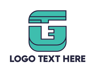 Teal - Geometric Teal G logo design