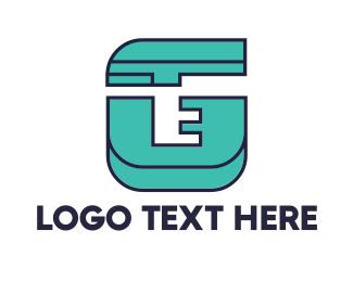 Fabrication - Geometric Teal G logo design