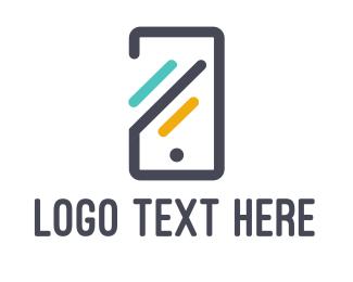 Computer - Abstract Mobile Phone logo design