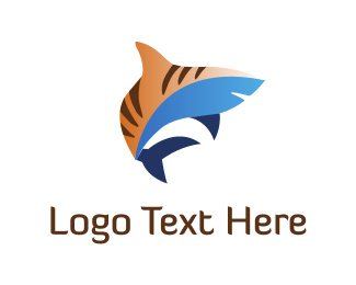 Gills - Tiger Shark logo design