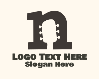 Letter N - Headstock letter N logo design