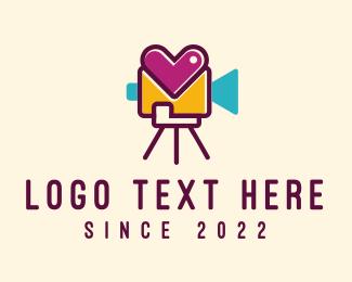 Movie Production - Heart Video Record logo design