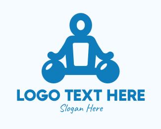 Gym - Blue Fitness Gym Instructor logo design