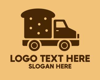 On The Go - Bread Delivery Van Truck logo design