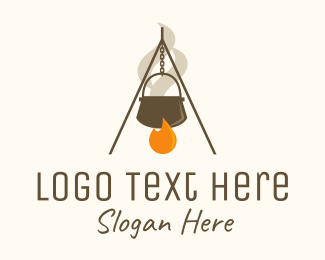 Campfire - Campfire Cooking logo design